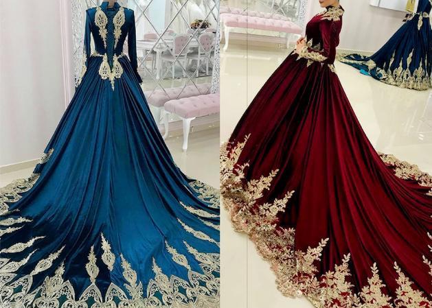 復古華麗HAREM'S高定禮服,奢華典雅之美,絲絨刺繡濃郁色調