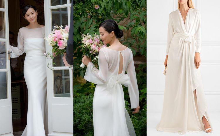 陳法拉結婚選這樣的婚紗裙款!簡約氣質白裙婚紗款式推介